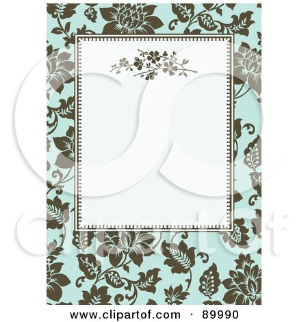 Royalty-Free (RF) Clipart Illustration of a Floral Invitation Border And Frame With Copyspace - Version 3 by BestVector