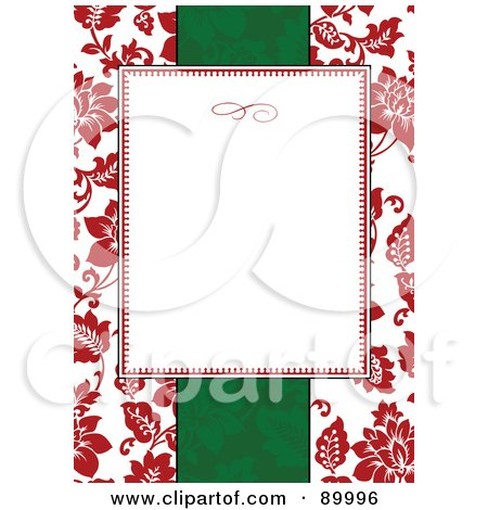 Royalty-Free (RF) Clipart Illustration of a Christmas Invitation Border And Frame With Copyspace - Version 4 by BestVector