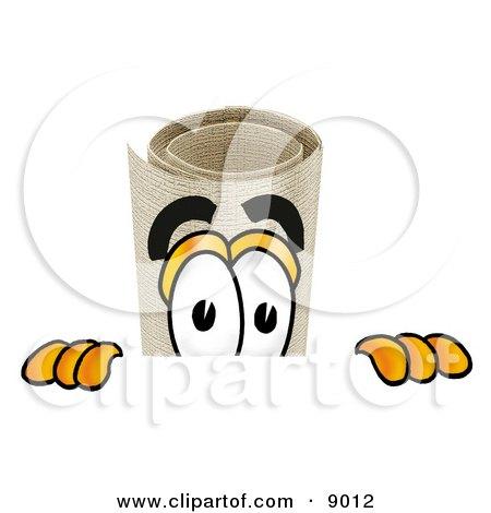 Diploma Mascot Cartoon Character Peeking Over a Surface Posters, Art Prints