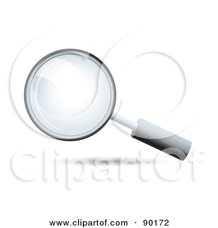 Royalty-Free (RF) Clipart Illustration of a 3d magnifying glass search app icon by MilsiArt