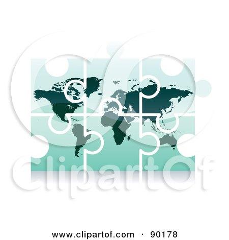 3d World Puzzle App Icon Posters, Art Prints