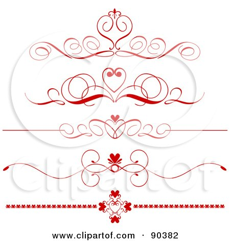 Clipart Illustration Of Two Flowers On Top Of An Elegant
