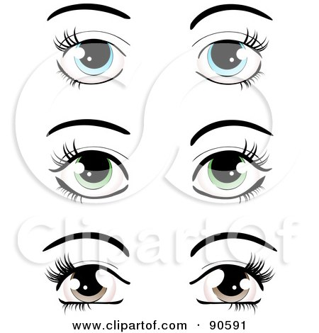 Clipart Young Woman With Collagen Eye Pads Getting Eyelash