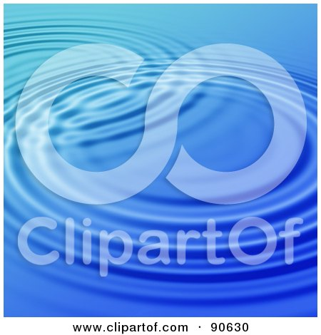 Royalty-Free (RF) Clipart Illustration of a Blue Rippling Water Background - 1 by Arena Creative