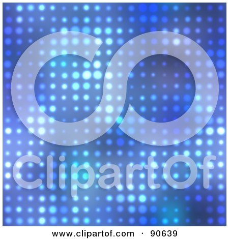 Royalty-Free (RF) Clipart Illustration of a Blue Halftone Background by Arena Creative
