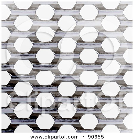 Royalty-Free (RF) Clipart Illustration of a Metal Grate Background Over White by Arena Creative