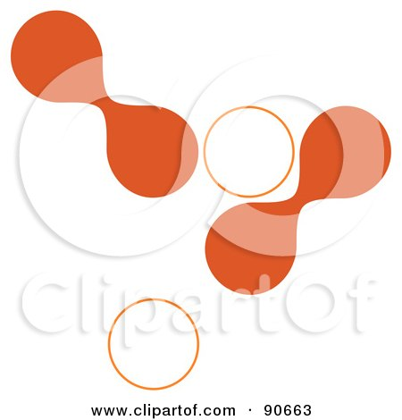 Royalty-Free (RF) Clipart Illustration of Orange And White Cells On White by Arena Creative