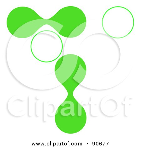 Royalty-Free (RF) Clipart Illustration of Green And White Cells On White by Arena Creative