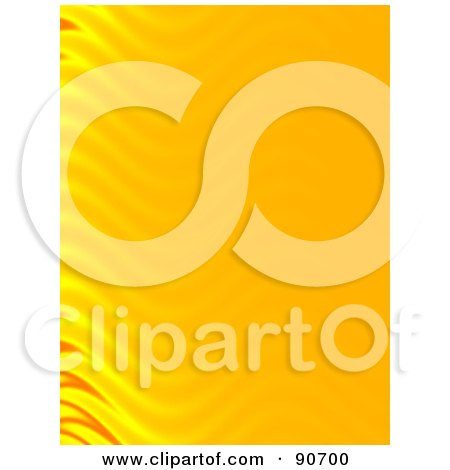 Royalty-Free (RF) Clipart Illustration of an Orange Background With Rippling Flames On The Left by Arena Creative