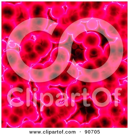 Royalty-Free (RF) Clipart Illustration of a Pink Cell Pattern Background by Arena Creative