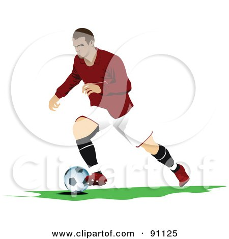 Royalty-Free (RF) Clipart Illustration of an Athletic Male Soccer Player - 6 by leonid