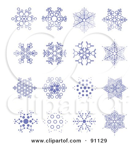 snowflake tattoo designs on ... of a Digital Collage Of 16 Purple Snowflake Designs by leonid #91129
