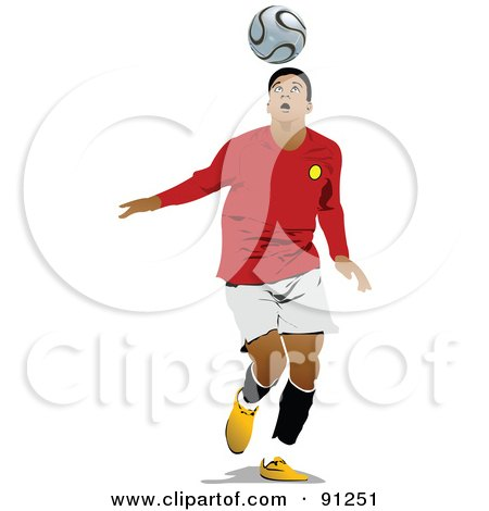 Royalty-Free (RF) Clipart Illustration of an Athletic Male Soccer Player - 5 by leonid