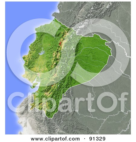 Royalty free rf clipart illustration of a shaded relief map of royalty free rf clipart illustration of a shaded relief map of ecuador by michael schmeling publicscrutiny Choice Image