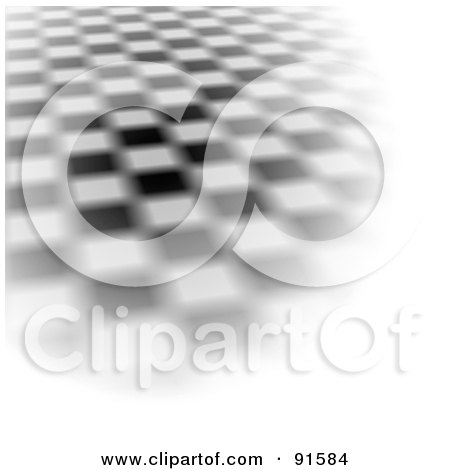 Royalty-Free (RF) Clipart Illustration of a Blurred Checkered Dance Floor With Bright White Edges by Arena Creative