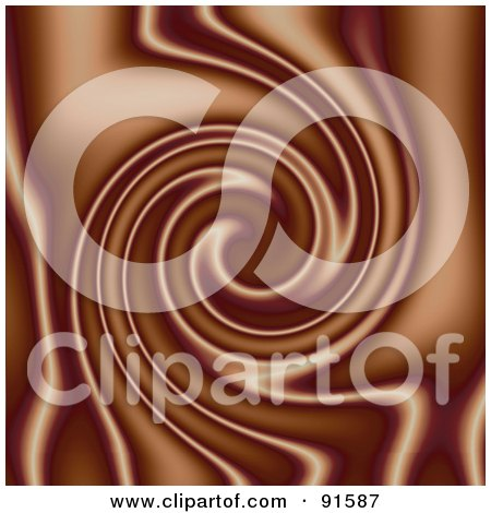 Royalty-Free (RF) Clipart Illustration of a Chocolate Mocha Swirl Background by Arena Creative