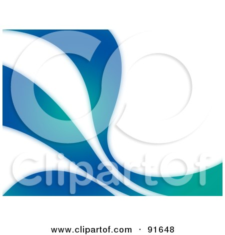 Royalty-Free (RF) Clipart Illustration of a Blue And Green Swoosh Background by Arena Creative