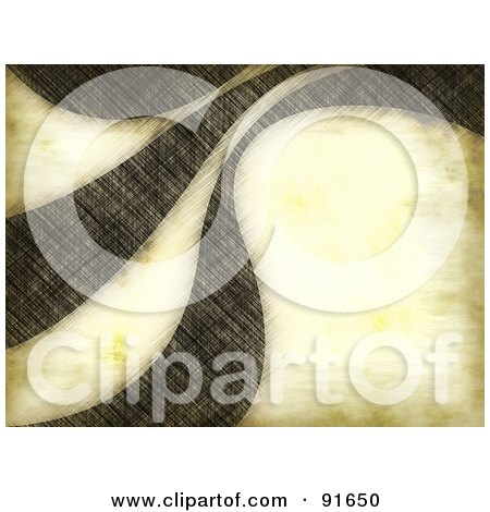Royalty-Free (RF) Clipart Illustration of a Grungy Swoosh Background by Arena Creative