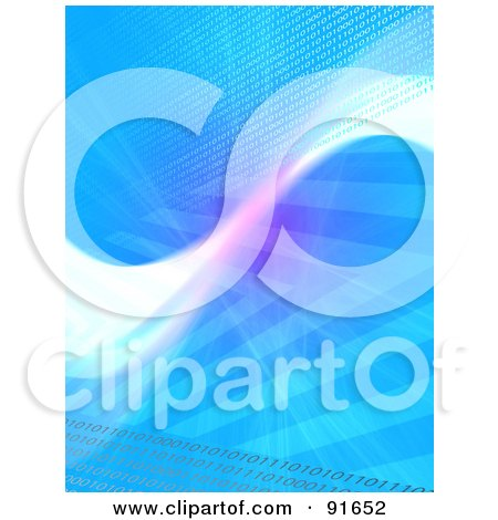 Royalty-Free (RF) Clipart Illustration of a Blue And White Swoosh Background by Arena Creative