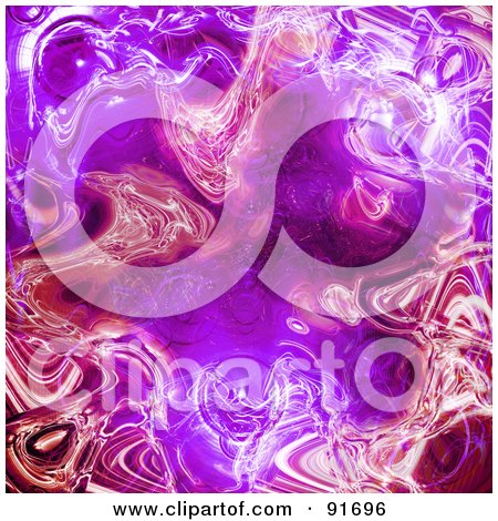 Royalty-Free (RF) Clipart Illustration of a Background Of Purple And Pink Rippling Plasma by Arena Creative