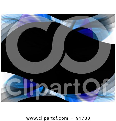 Royalty-Free (RF) Clipart Illustration of a Wavy Black Text Box With Swoosh Borders by Arena Creative