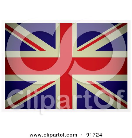 Royalty-Free (RF) Clipart Illustration of a Dark Flat Aged British Flag by michaeltravers