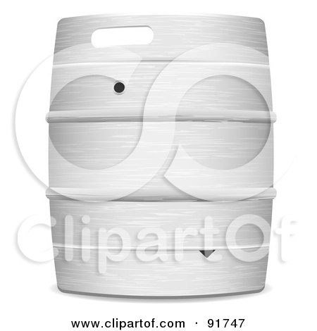Royalty-Free (RF) Clipart Illustration of a Metal Beer Keg Barrel by michaeltravers
