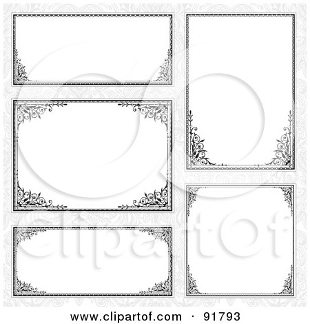 Royalty-Free (RF) Clipart Illustration of a Digital Collage Of Certificate Borders - 12 by BestVector