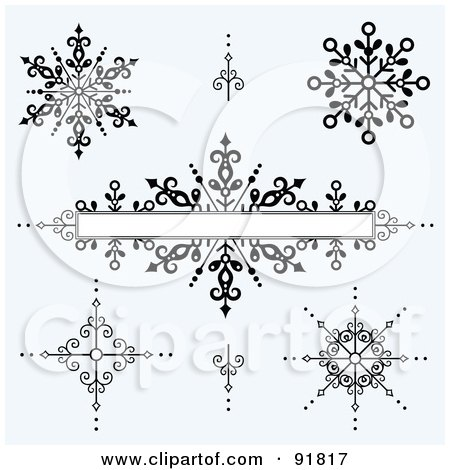 Royalty-Free (RF) Clipart Illustration of a Digital Collage Of Black And White Iron Burst Design Elements And A Text Box Over Gray by BestVector