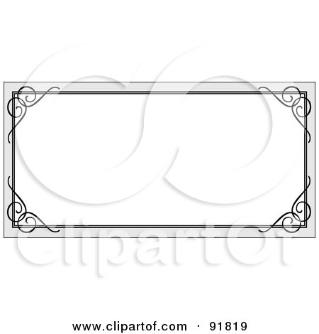 royalty free rf clipart illustration of a blank white text box