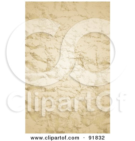 Royalty-Free (RF) Clipart Illustration of a Wrinkled And Distressed Parchment Paper Background by BestVector