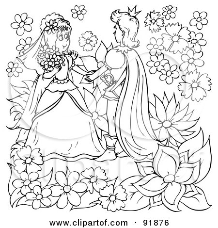 royalty free rf clipart illustration of a black and white thumbelina coloring page outline 11 by alex bannykh