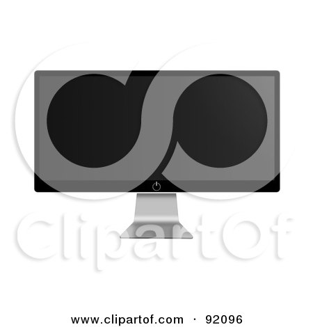 Royalty-Free (RF) Clipart Illustration of a Modern Flatscreen Television On A Silver Stand by oboy