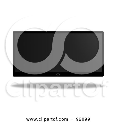 Royalty-Free (RF) Clipart Illustration of a Modern Floating Flatscreen Television by oboy