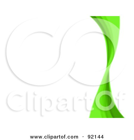 Royalty-Free (RF) Clipart Illustration of a Background Of A Green Swoosh Over White by Arena Creative