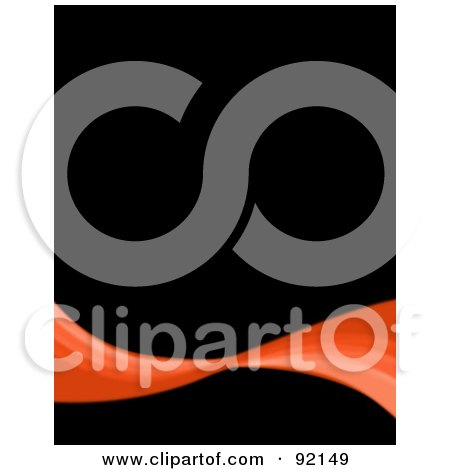 Royalty-Free (RF) Clipart Illustration of a Background Of An Orange Swoosh Over Black by Arena Creative