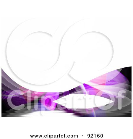 Royalty-Free (RF) Clipart Illustration of a Background Of Fractal Swooshes Over White by Arena Creative