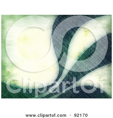Royalty-Free (RF) Clipart Illustration of a Background Of Grungy Green Swooshes by Arena Creative