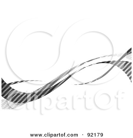 Royalty-Free (RF) Clipart Illustration of a Background Of Horizontal Gray Carbon Fiber Swooshes Over White by Arena Creative