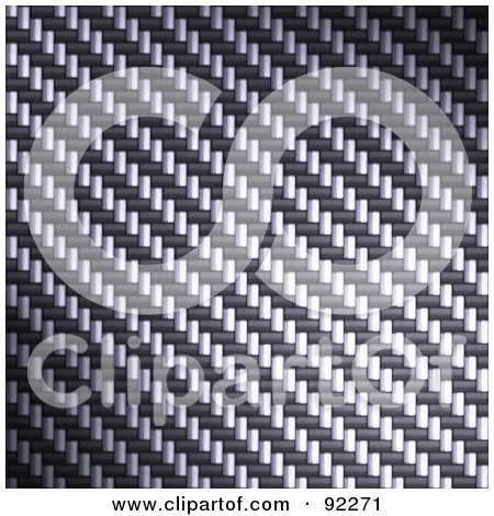 Royalty-Free (RF) Clipart Illustration of a Carbon Fiber Background Texture - 7 by Arena Creative