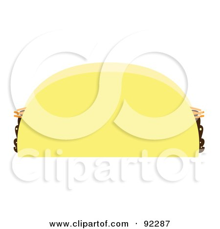Royalty-Free (RF) Clipart Illustration of a Taco Shell With Cheese And Beans by JR