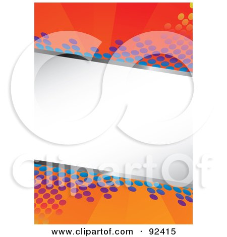 Royalty-Free (RF) Clipart Illustration of a White Text Box Over A Background Of Colorful Circles by Arena Creative