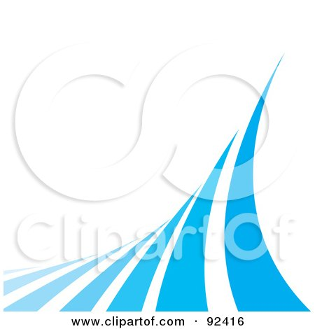 Royalty-Free (RF) Clipart Illustration of Blue Curves Over White by Arena Creative