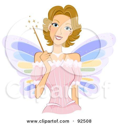 Dirty Blond Fairy Woman Holding A Magic Wand Posters, Art Prints