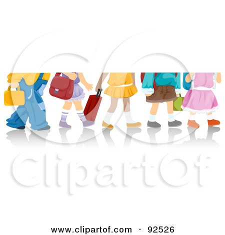 Royalty-Free (RF) Clipart Illustration of Legs Of School Children by BNP Design Studio