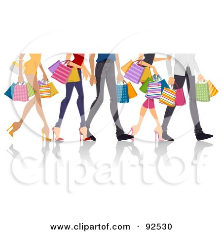 Legs Of Shopping Adults Posters, Art Prints