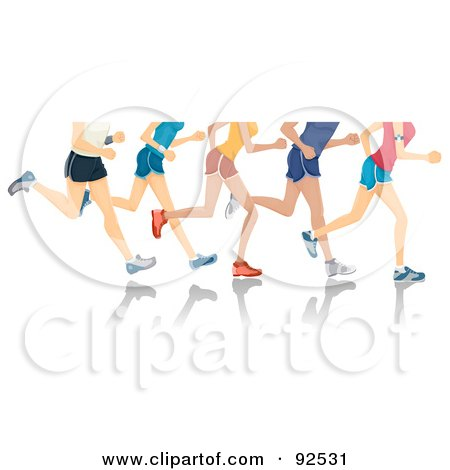 Royalty-Free (RF) Clipart Illustration of Legs of Runners by BNP Design Studio