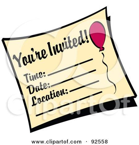 birthday invitation free clipart