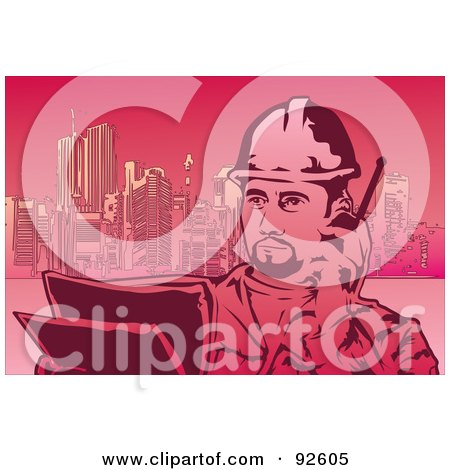Royalty-Free (RF) Clipart Illustration of a Construction Worker - 5 by mayawizard101