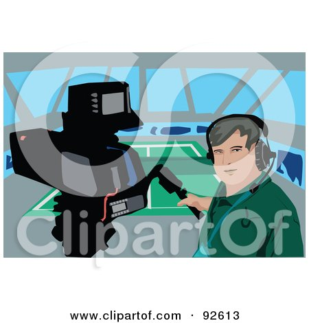 Royalty-Free (RF) Clipart Illustration of a Camera Man - 1 by mayawizard101